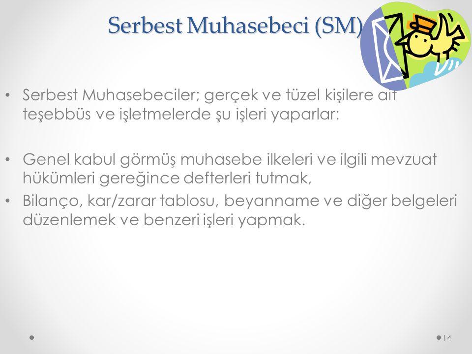 Serbest Muhasebeci (SM)
