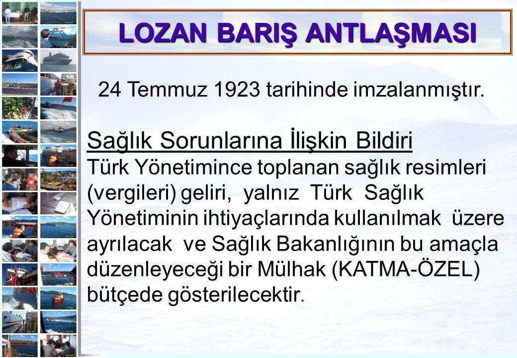 LOZAN BARIŞ ANTLAŞMASI