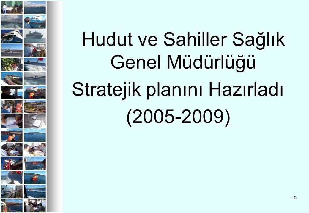 Hudut ve Sahiller Sağlık Genel Müdürlüğü Stratejik planını Hazırladı