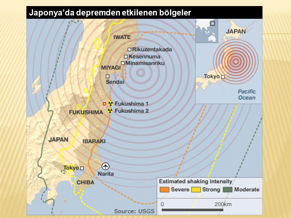 Japonya'da depremden etkilenen bölgeler