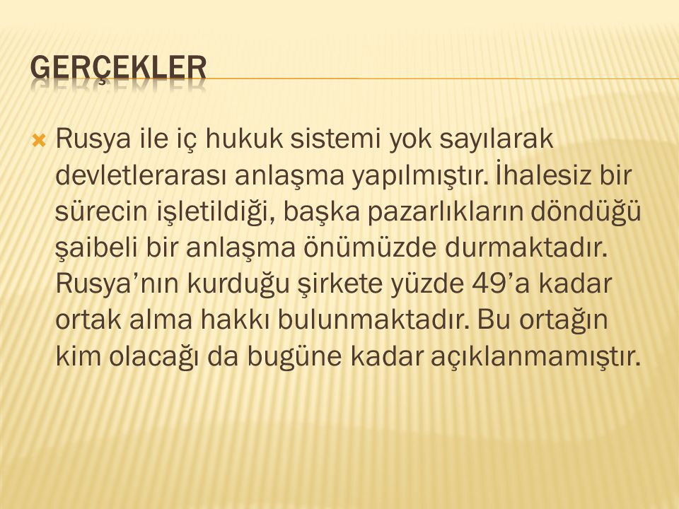 GERÇEKLER