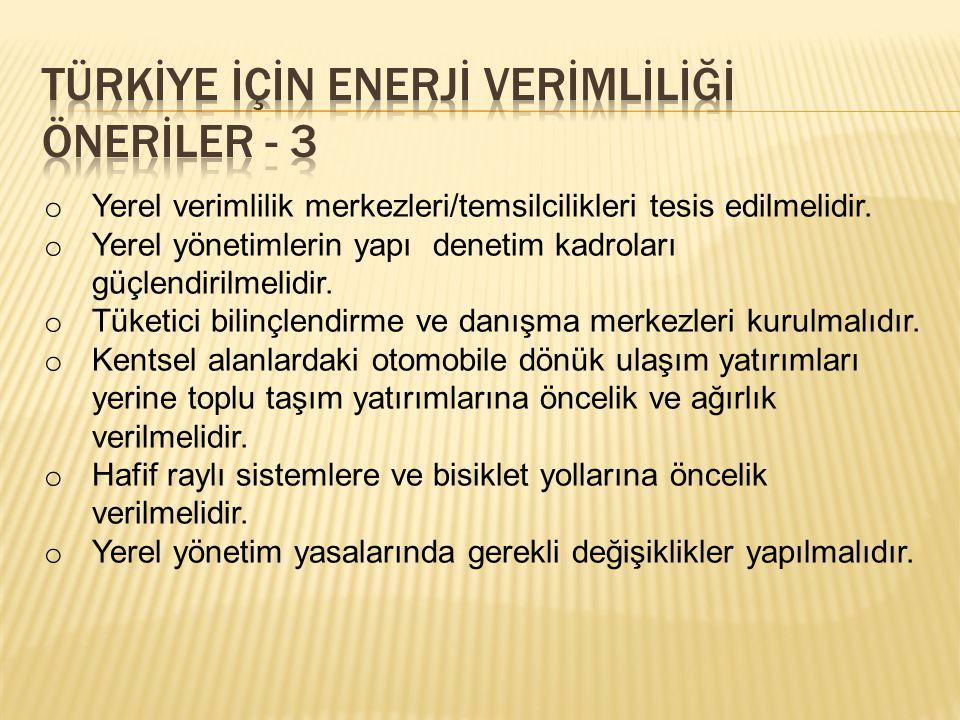 TÜRKİYE İÇİN ENERJİ VERİMLİLİĞİ ÖNERİLER - 3