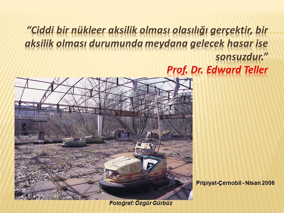 Ciddi bir nükleer aksilik olması olasılığı gerçektir, bir aksilik olması durumunda meydana gelecek hasar ise sonsuzdur. Prof. Dr. Edward Teller
