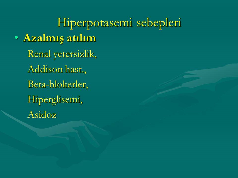 Hiperpotasemi sebepleri