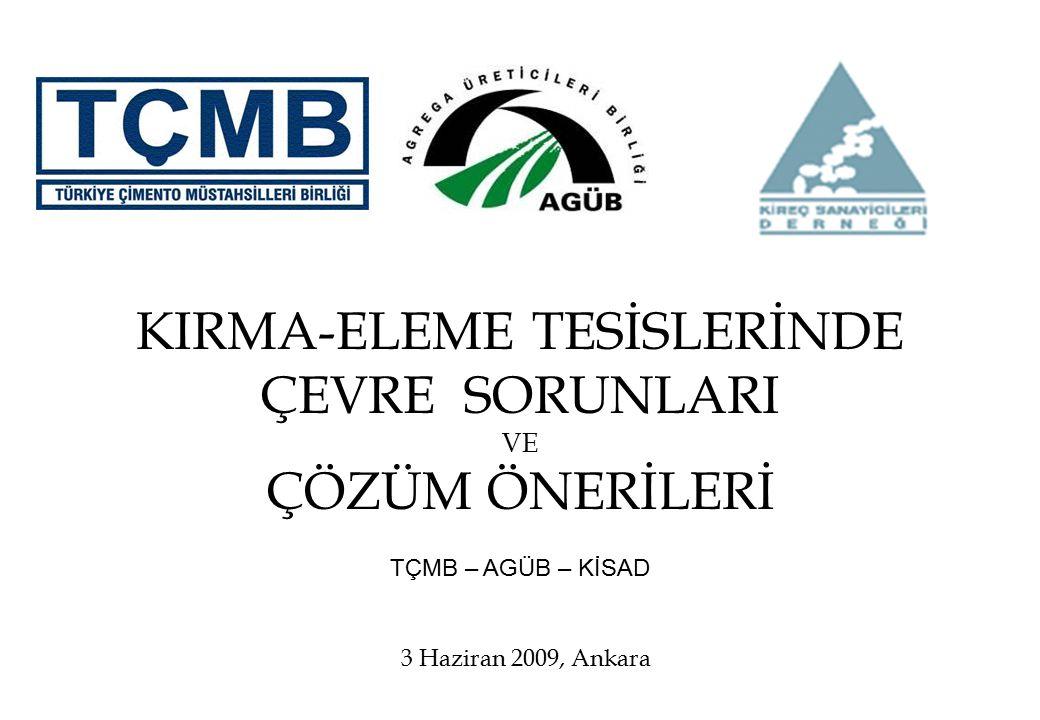 KIRMA-ELEME TESİSLERİNDE
