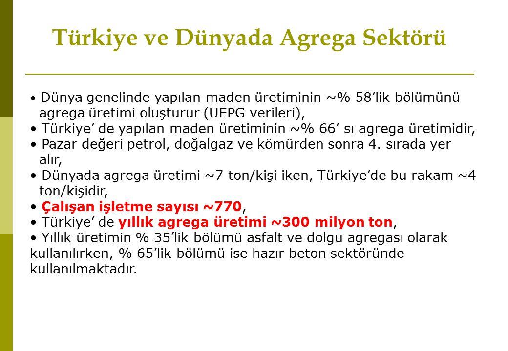 Türkiye ve Dünyada Agrega Sektörü