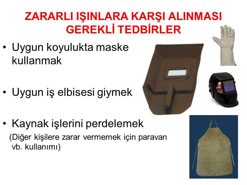 ZARARLI IŞINLARA KARŞI ALINMASI GEREKLİ TEDBİRLER