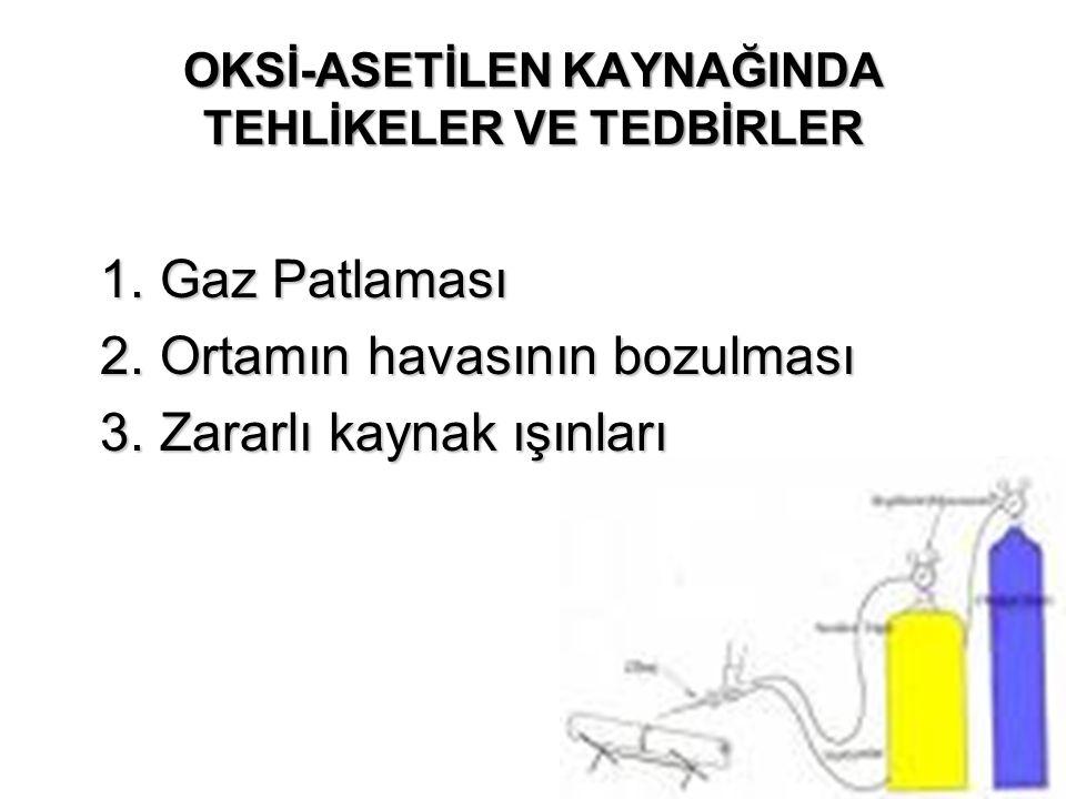 OKSİ-ASETİLEN KAYNAĞINDA TEHLİKELER VE TEDBİRLER