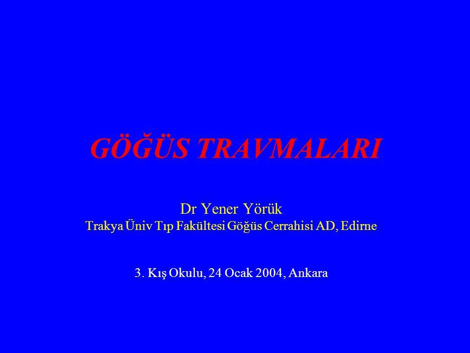 Trakya Üniv Tıp Fakültesi Göğüs Cerrahisi AD, Edirne