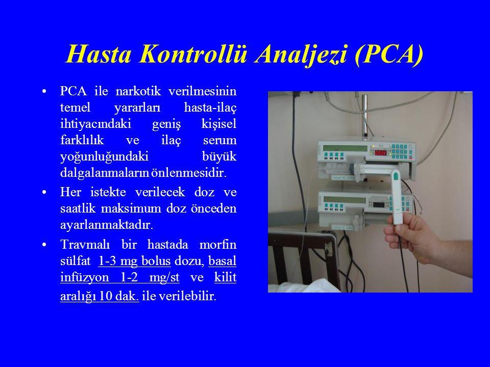 Hasta Kontrollü Analjezi (PCA)