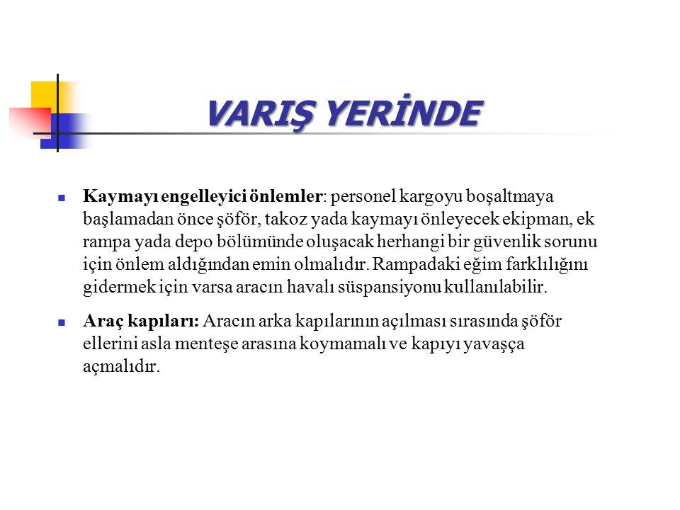 VARIŞ YERİNDE