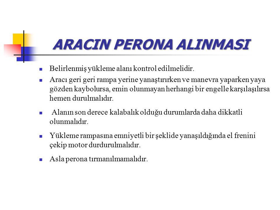 ARACIN PERONA ALINMASI