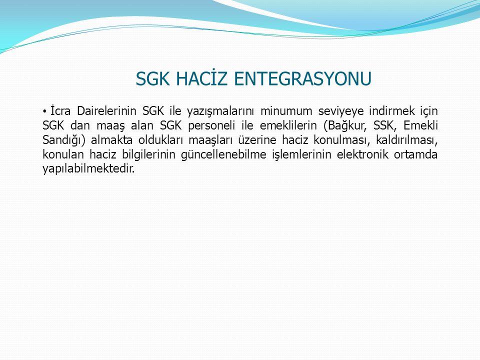 SGK HACİZ ENTEGRASYONU