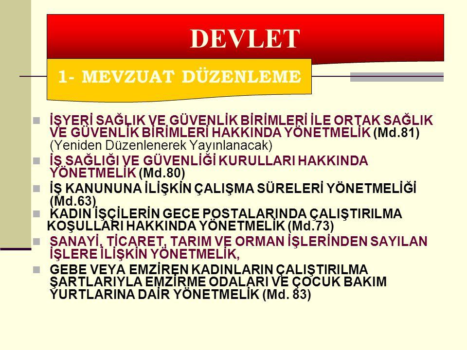 DEVLET 1- MEVZUAT DÜZENLEME