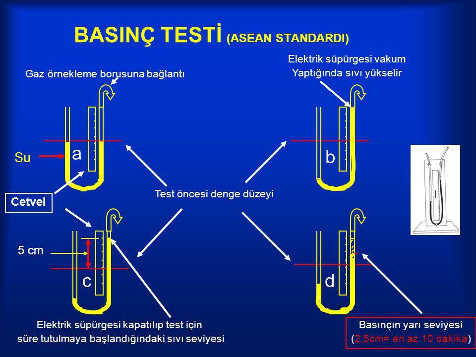 BASINÇ TESTİ (ASEAN STANDARDI)