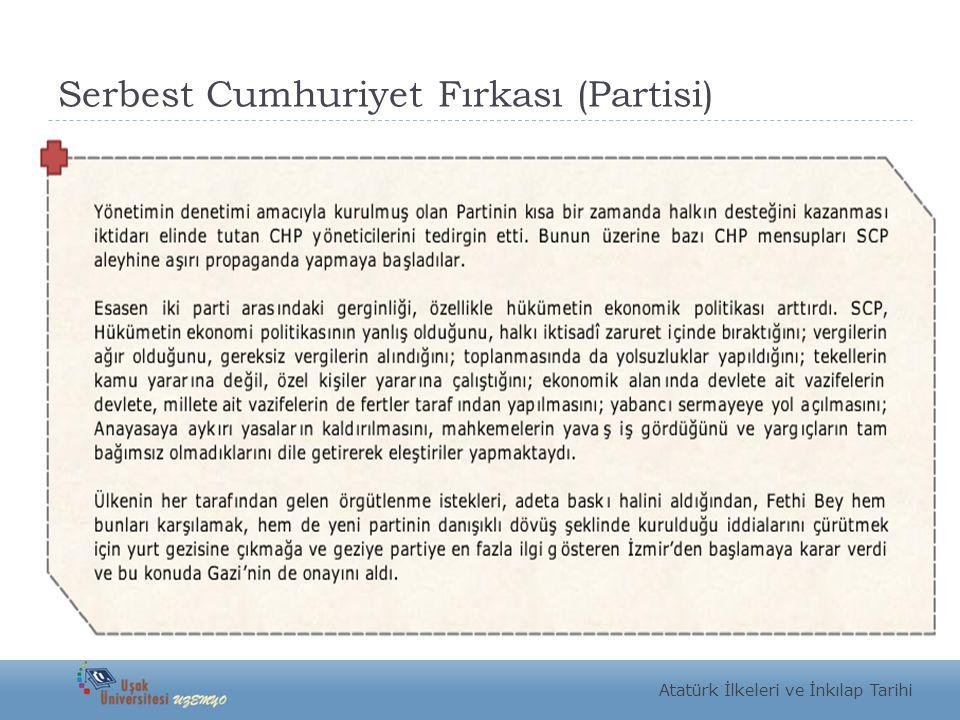 Serbest Cumhuriyet Fırkası (Partisi)