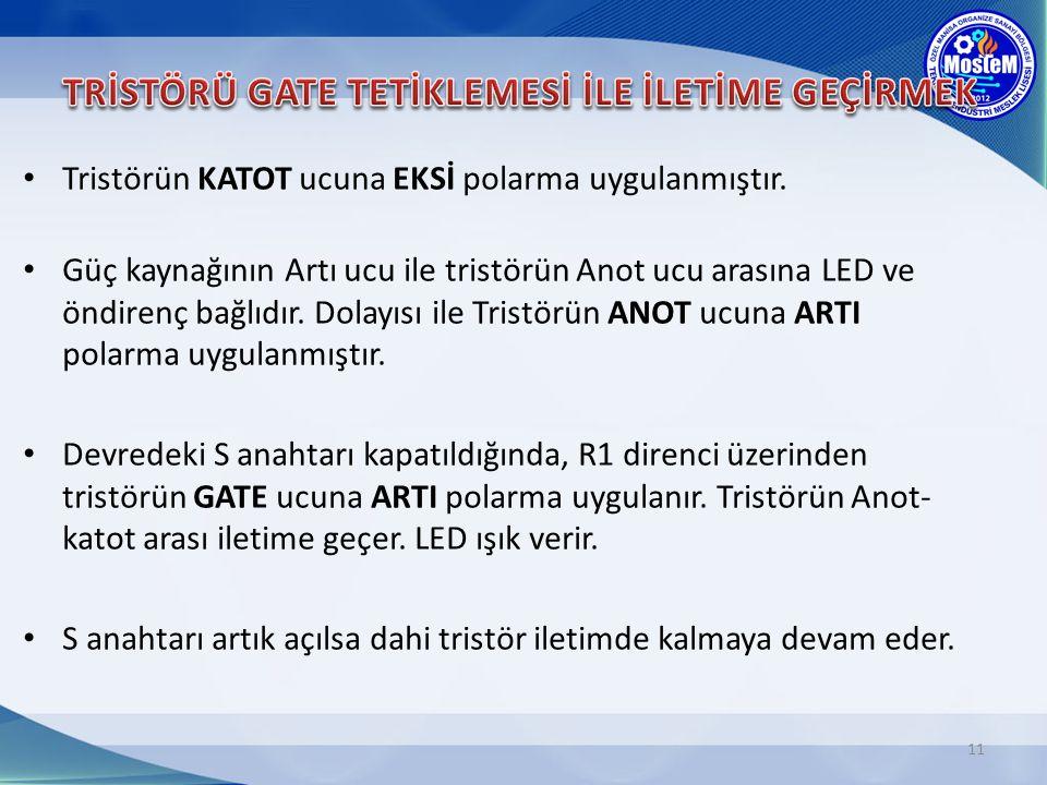 TRİSTÖRÜ GATE TETİKLEMESİ İLE İLETİME GEÇİRMEK