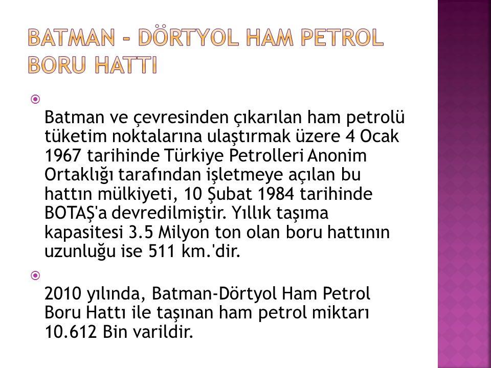 BATMAN - DÖRTYOL HAM PETROL BORU HATTI