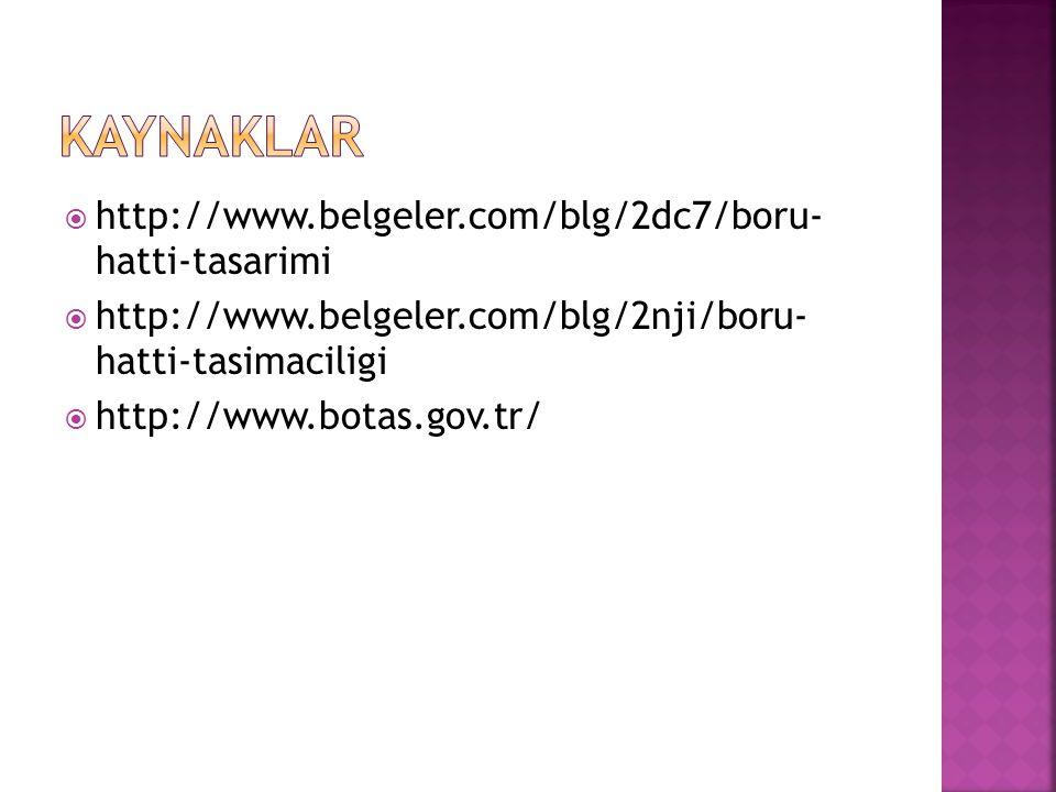 kaynaklar http://www.belgeler.com/blg/2dc7/boru- hatti-tasarimi