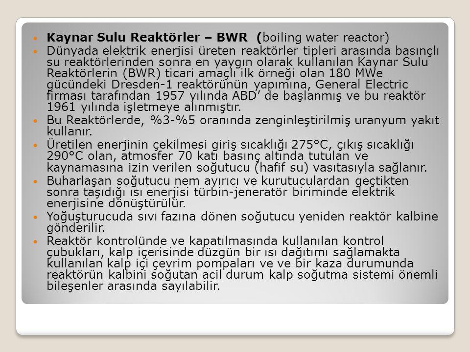 Kaynar Sulu Reaktörler – BWR (boiling water reactor)