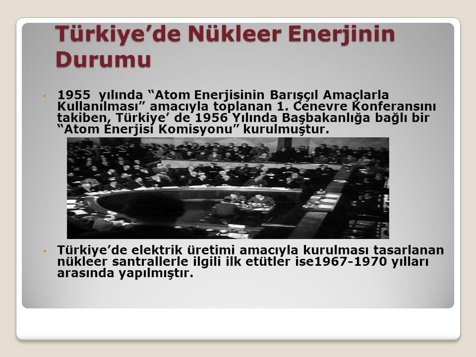 Türkiye'de Nükleer Enerjinin Durumu