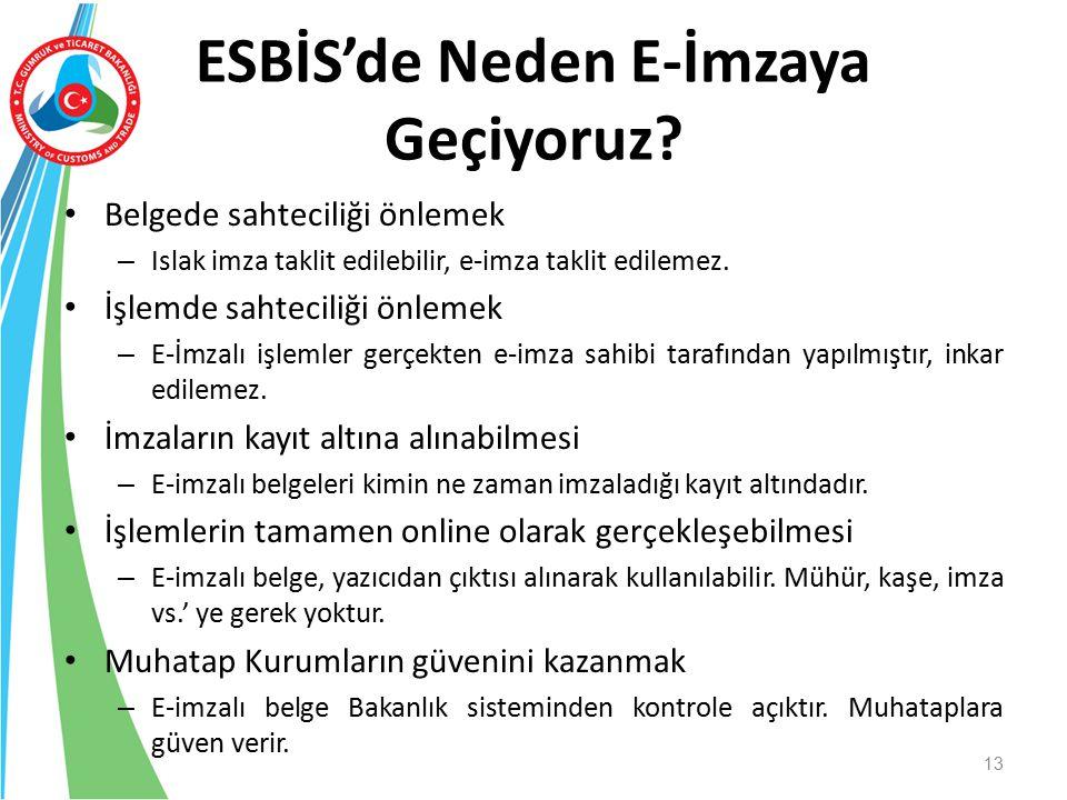 ESBİS'de Neden E-İmzaya Geçiyoruz