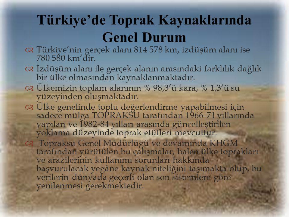 Türkiye'de Toprak Kaynaklarında Genel Durum