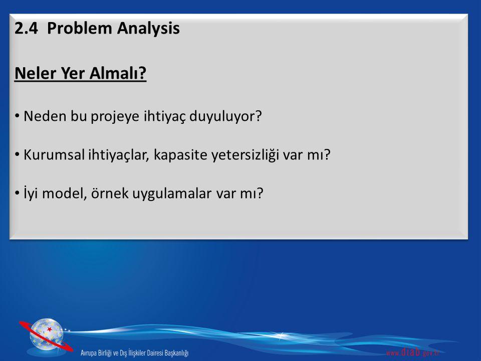 2.4 Problem Analysis Neler Yer Almalı