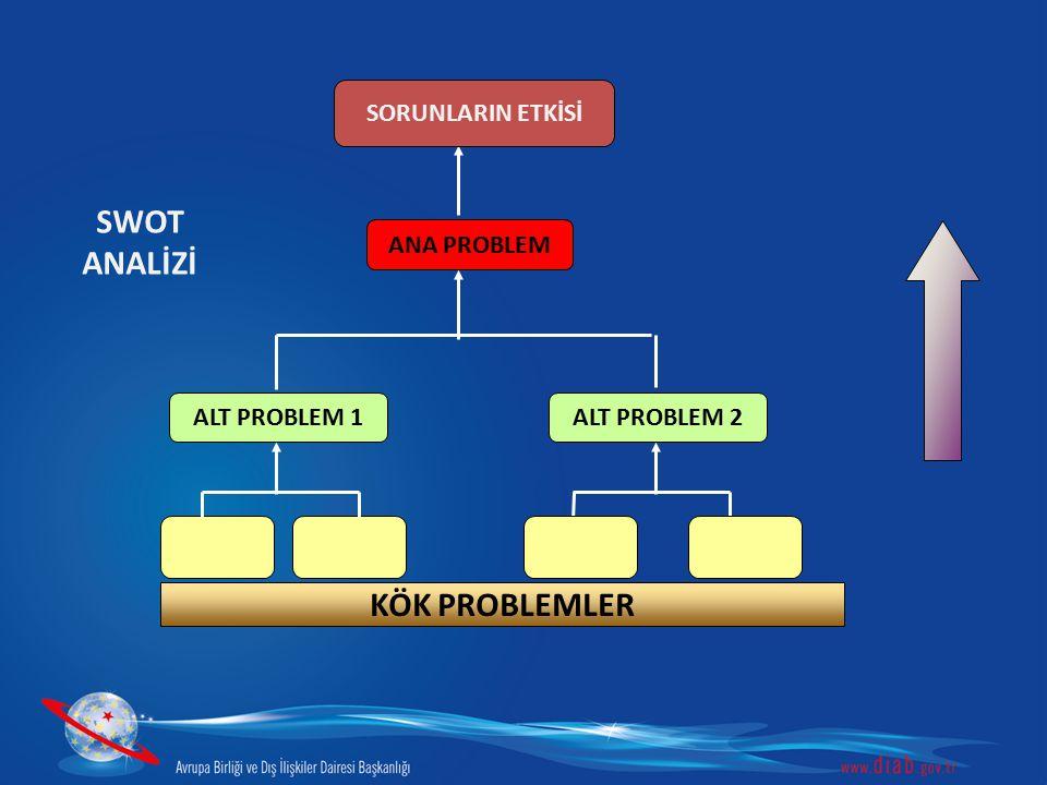 SWOT ANALİZİ KÖK PROBLEMLER