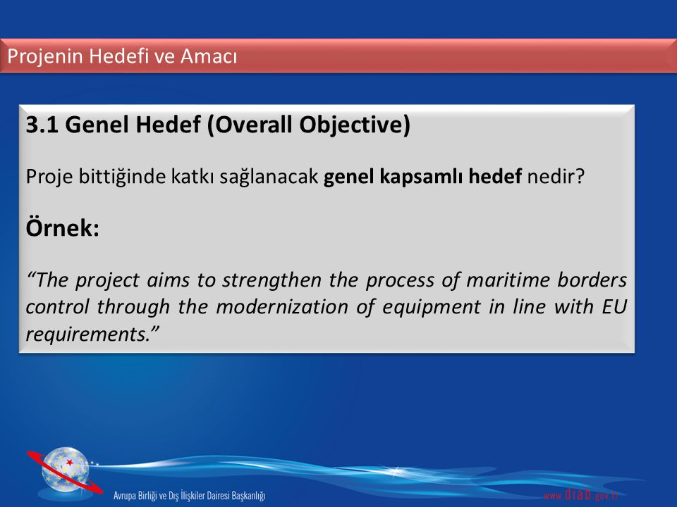 3.1 Genel Hedef (Overall Objective)