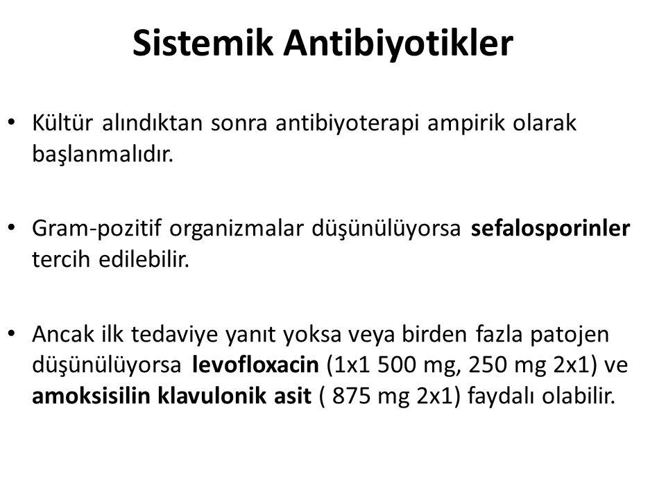 Sistemik Antibiyotikler