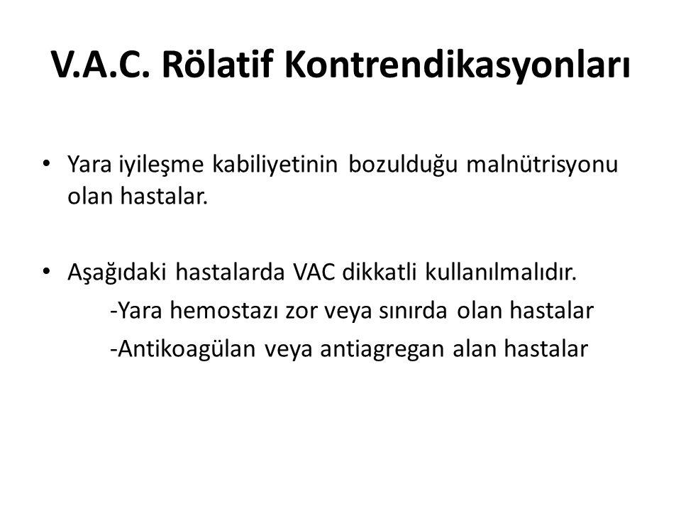 V.A.C. Rölatif Kontrendikasyonları