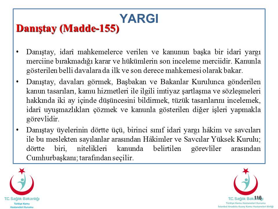 YARGI Danıştay (Madde-155)