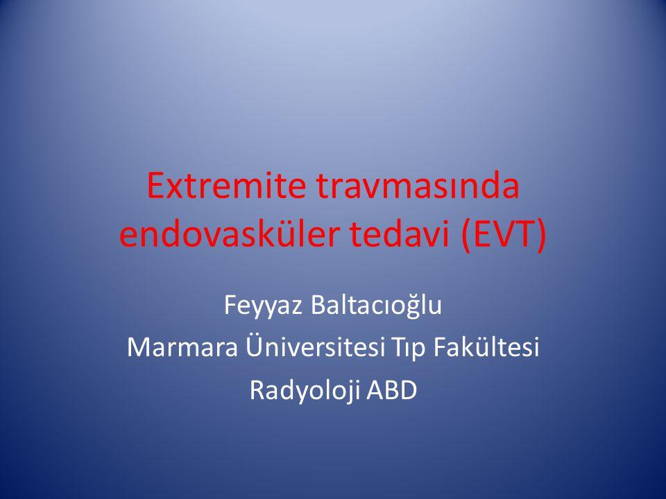 Extremite travmasında endovasküler tedavi (EVT)