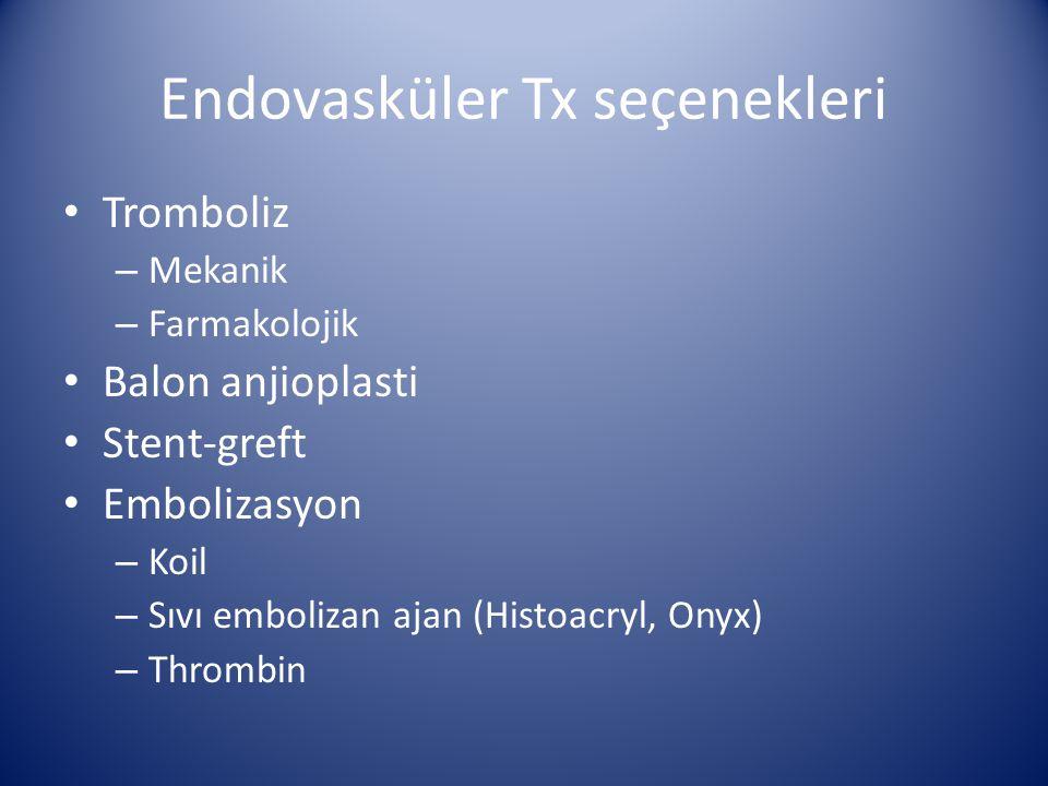 Endovasküler Tx seçenekleri