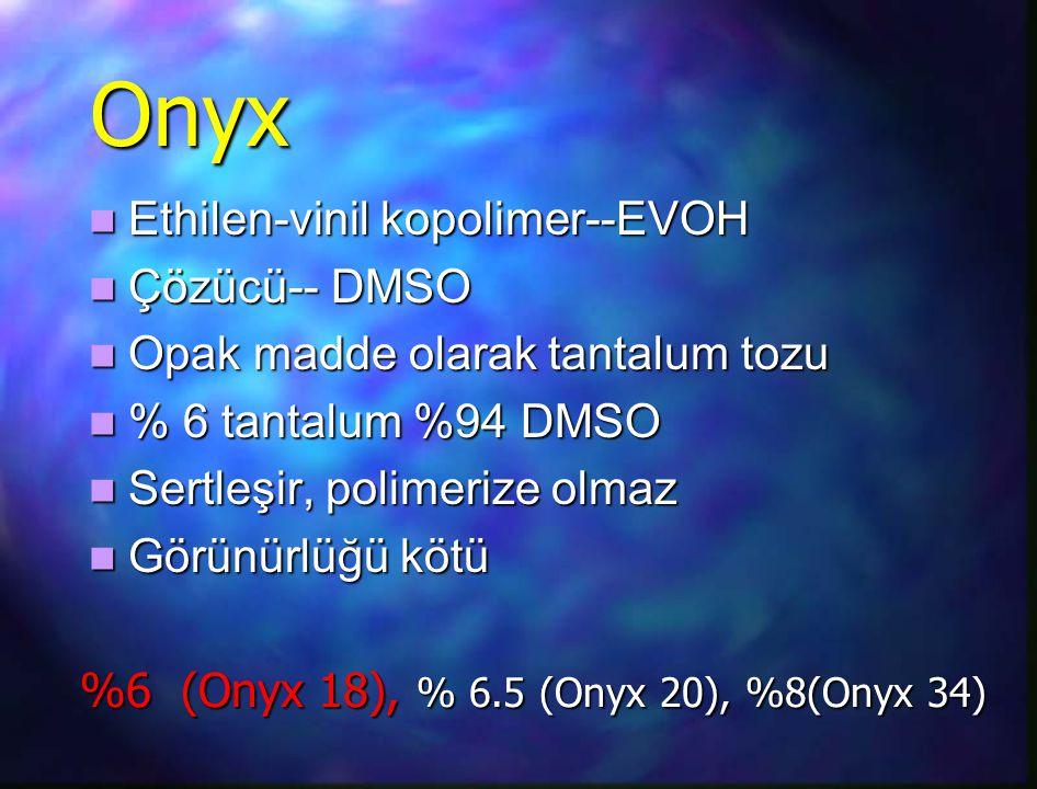 Onyx Ethilen-vinil kopolimer--EVOH Çözücü-- DMSO