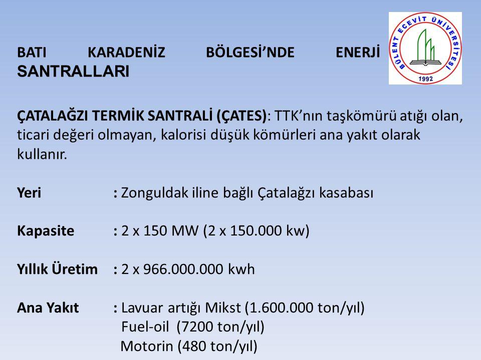 BATI KARADENİZ BÖLGESİ'NDE ENERJİ SANTRALLARI