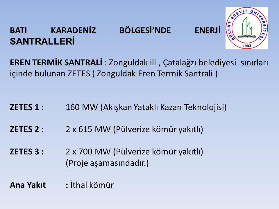 BATI KARADENİZ BÖLGESİ'NDE ENERJİ SANTRALLERİ
