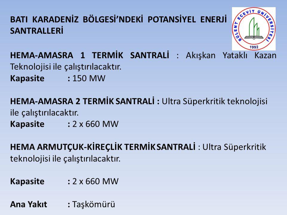 BATI KARADENİZ BÖLGESİ'NDEKİ POTANSİYEL ENERJİ SANTRALLERİ
