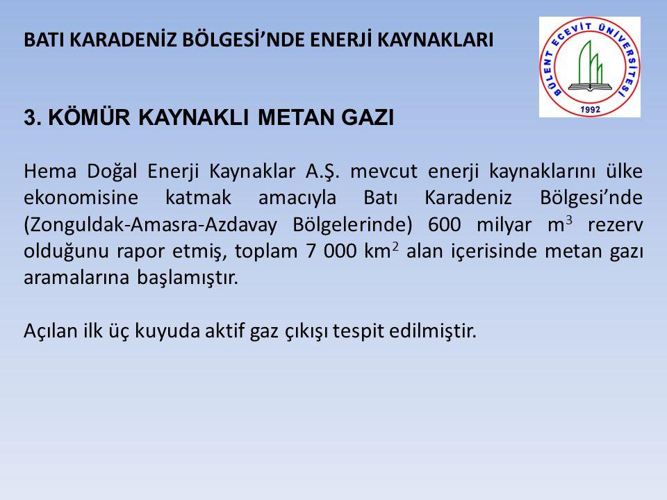 BATI KARADENİZ BÖLGESİ'NDE ENERJİ KAYNAKLARI