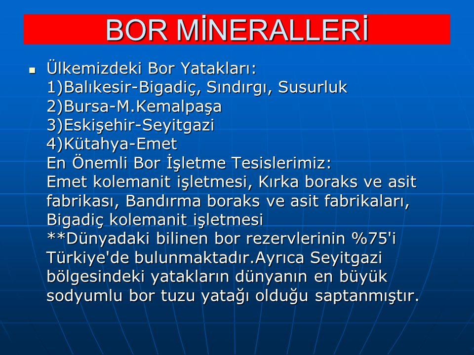 BOR MİNERALLERİ