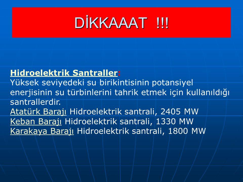 DİKKAAAT !!! Hidroelektrik Santraller: