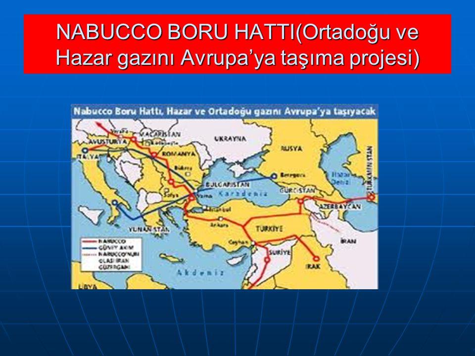 NABUCCO BORU HATTI(Ortadoğu ve Hazar gazını Avrupa'ya taşıma projesi)