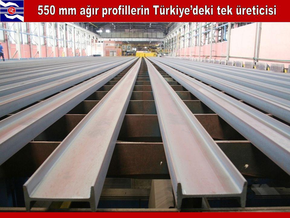 550 mm ağır profillerin Türkiye'deki tek üreticisi