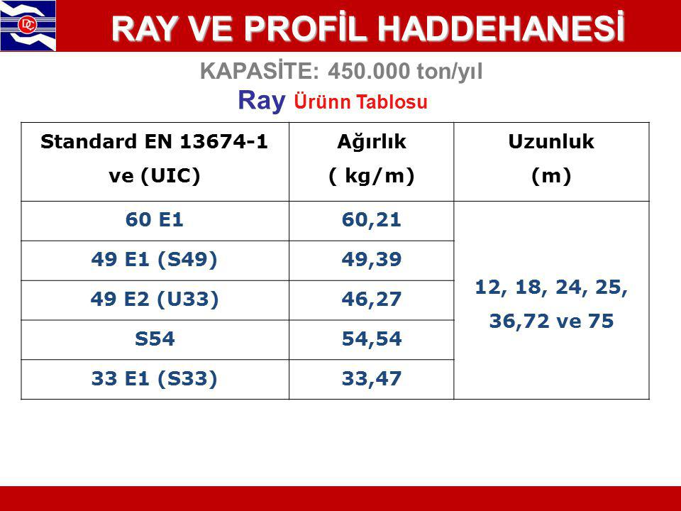 RAY VE PROFİL HADDEHANESİ