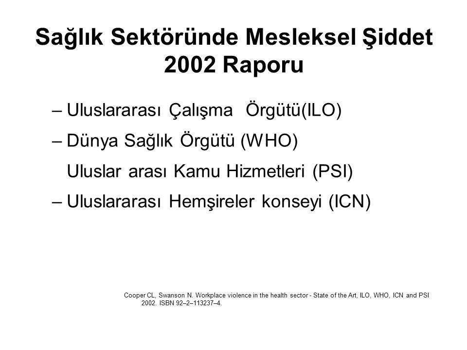 Sağlık Sektöründe Mesleksel Şiddet 2002 Raporu