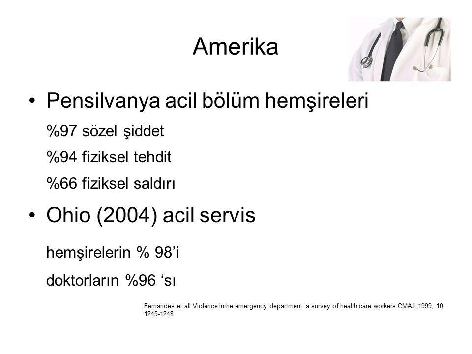 Amerika Pensilvanya acil bölüm hemşireleri Ohio (2004) acil servis