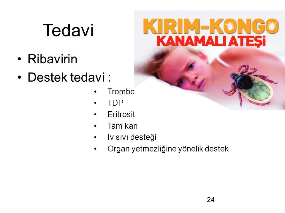 Tedavi Ribavirin Destek tedavi : Trombosit TDP Eritrosit Tam kan