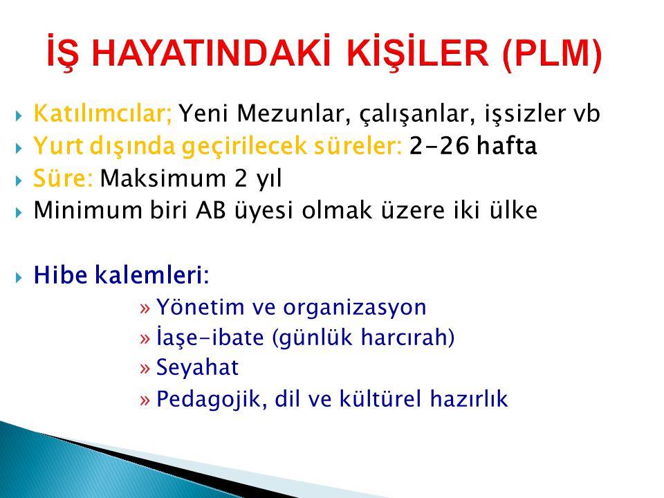 İŞ HAYATINDAKİ KİŞİLER (PLM)