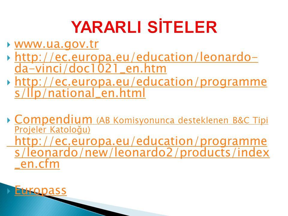 YARARLI SİTELER www.ua.gov.tr